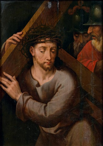 le christ portant la croix by michiel coxie the elder