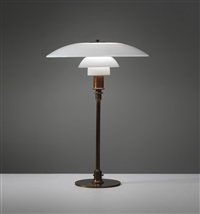 early and large table lamp, type 5/3 shades by poul henningsen