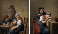 scènes d'intérieur (2 works) by constantinus-fidelio coene