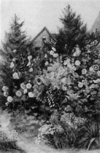 hollyhocks by anna freeland