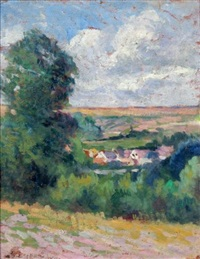 village du vallon (bessy sur cure) by maximilien luce