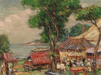downie brothers circus at gloucester, massachusetts by reynolds beal