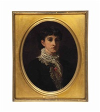 portrait of genevieve welling by frank duveneck