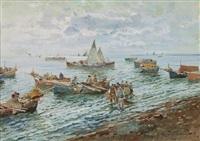 pescatori a mergellina by romolo leone