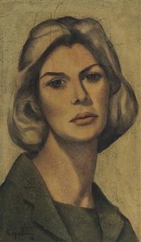 portrait of mrs. marie tobler by louay kayyali