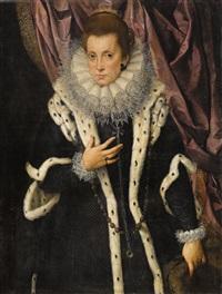 porträt einer edeldame, wahrscheinlich eleonora de medici, herzogin von mantua (1567-1611) by anonymous-italian (17)