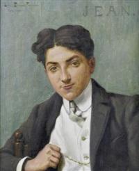 portrait de jeune homme by louis edouard paul fournier