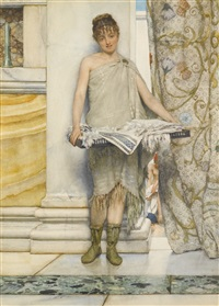 a balneatrix by sir lawrence alma-tadema