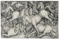 group of six and seven horses (3 works) by hans baldung grien