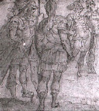 a group of five soldiers by ottavio semino