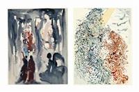 dante alighierei, la divina commedia (the divine comedy), arti e scienze, salani, italy, 1960-64 (set of 100) by salvador dalí