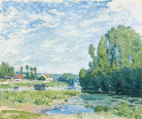 la mare aux canards by alfred sisley