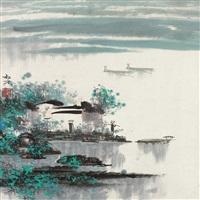渔民图 by zheng shufang
