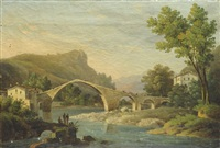 paesaggio con ponte by carlo marko