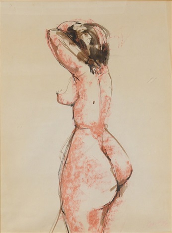 nude by georg baselitz
