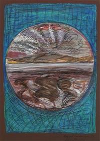 donegal landscape (blue) by brian bourke