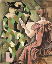 hommage à watteau, circa 1918 by andré lhote