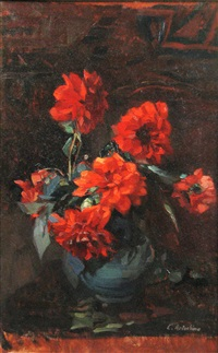 red flowers by constantin artachino