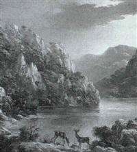 venados junto al lago by luis aldehuela