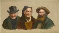 triple portrait d'hommes en buste by luis graner y arrufi