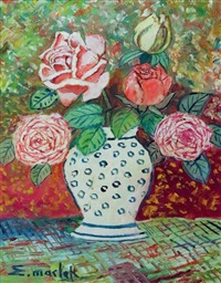 bouquet de fleurs sur une table by elisée maclet