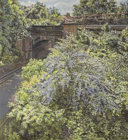 railway bridge spring by christopher bramham