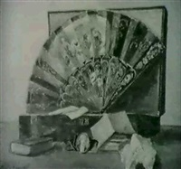 still life with fan and mementos by emile joseph smith