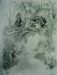 amazone chassant la gazelle by jose pico mitjans