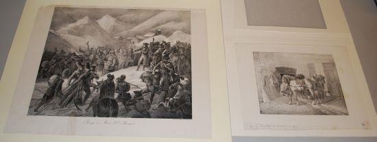 passage du mont saint bernard lara blessé cheval espagnol cheval de charrette chevaux conduits a lécorcheur les boueux 6 works by théodore géricault