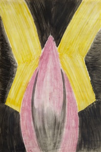 rythmes colorés rose et jaune by léopold survage