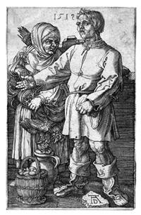 il contadino e la moglie al mercato by albrecht dürer