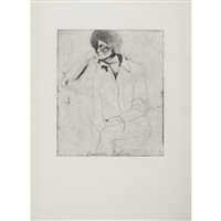 russian poetess (from eight sheets from an undefined novel) by jim dine