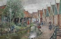 daily activities in volendam by otto piltz