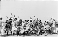 games in a refugee camp at kurukshetra, punjab, india by henri cartier-bresson
