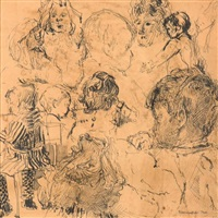 esquisses de têtes d'enfants by rik wouters