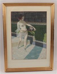 salome mit dem haupt johannes des täufers by leopold blauensteiner