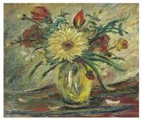 jarrón con flores (homenaje a vincent van gogh) by joaquín clausell