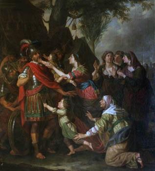 volumnia con sus hijos ante coriolanus by erasmus quellinus the younger