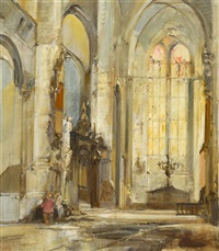 cathedral interior by colin campbell cooper