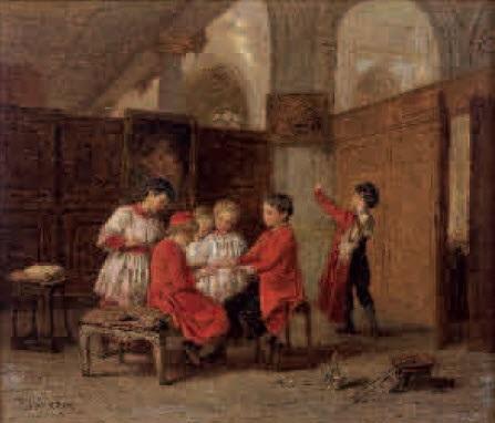 enfants à léglise by théophile emmanuel duverger