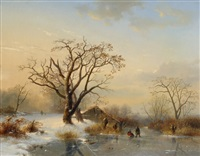 winter landscape by cornelis lieste