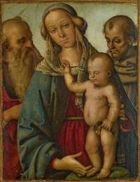 vierge à l'enfant avec saint jérôme et saint francis by giovan maria di bartolomeo bacci di belforte