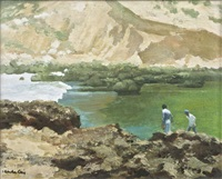 rocky shore by henry robertson craig