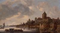 vue de nimègue depuis le fleuve by frans de hulst