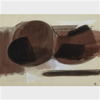 untitled (brown) by helen saunders