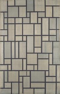 composition avec grille 2 by piet mondrian