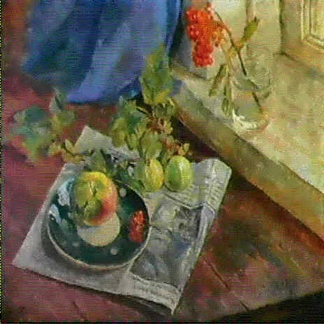 nature morte sur un journal by nikolai arkhipov