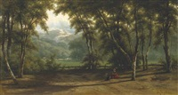 late afternoon in a wooded valley by johannes gysbert vogel the younger
