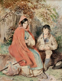 young couple resting by william foster