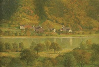 village along the river by gustav august hessl